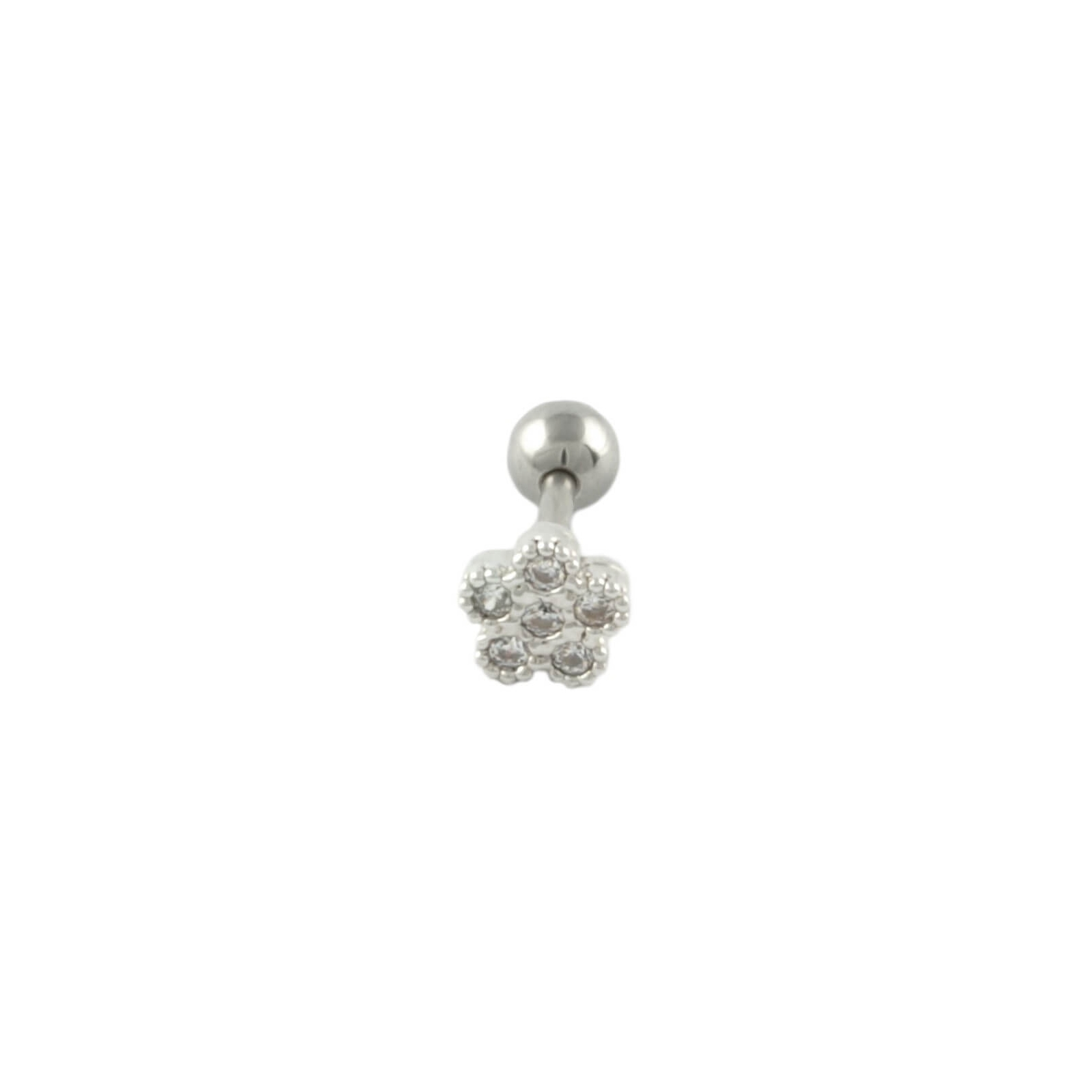 tiny flower cartilage stud small tragus flower earrings