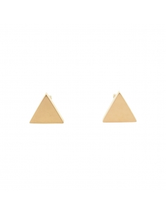 Triangle Earrings | Gold plated and 925 Sterling Silver ...