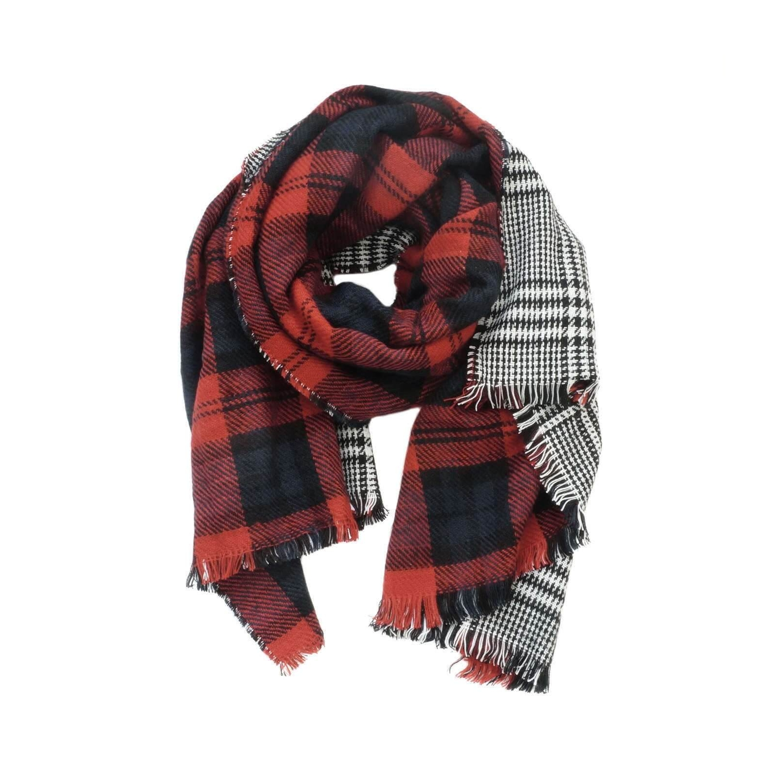 Double Sided Plaid Scarf | Tartan Scarf | Oversized Flannel ...