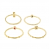 Gold Dainty Ring Set
