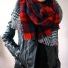 Rode Dubbelzijdig Rode Geruite Sjaal