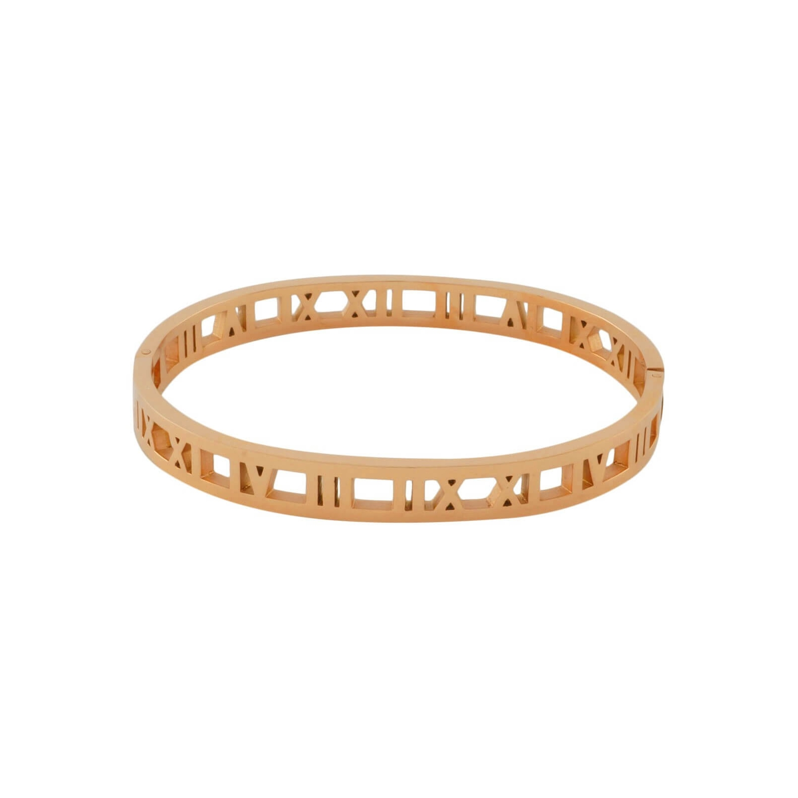 Roman Numeral Bangle Gold Plated Rose Gold Bracelet