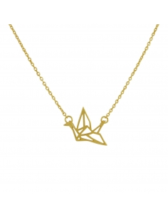 Gold Origami Swan Necklace