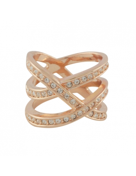 Pave Double Cross Ring
