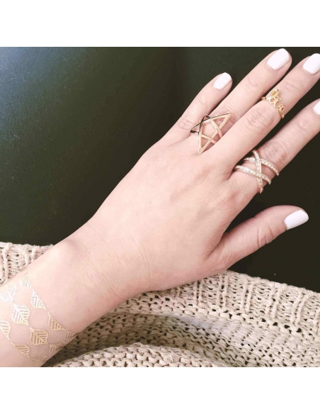 Dubbel Kruis Ring