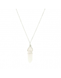 Quartz Stone Pendant Necklace