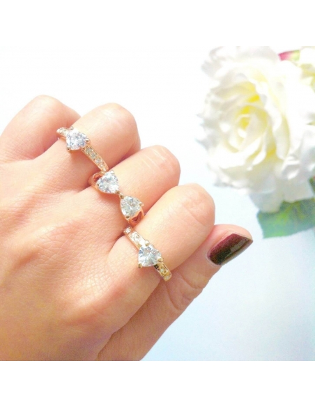 clover bow ring set