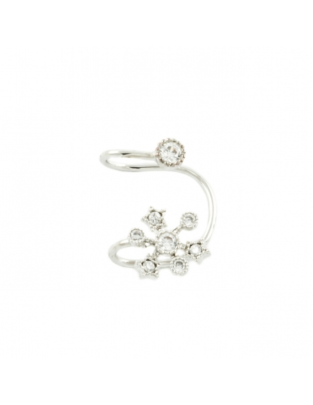 Silver Snowflake Ear Cuff