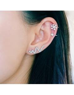 Zilveren Sneeuwvlok Ear Cuff