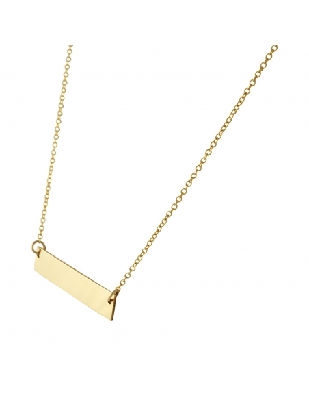 14K Gold Filled Delicate Bar Necklace