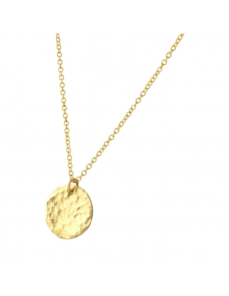 Gold Small Disc Necklace