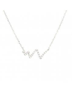 Pave Wave Necklace