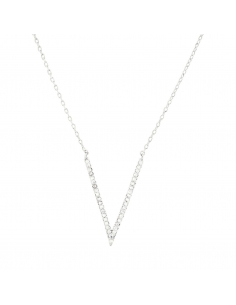 Sparkly Pave V Necklace