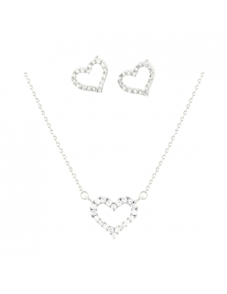 Open Heart Jewel Set