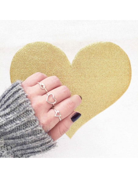 Frame Heart Ring