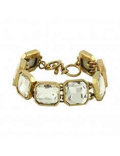 Vierkant Kristallen Armband