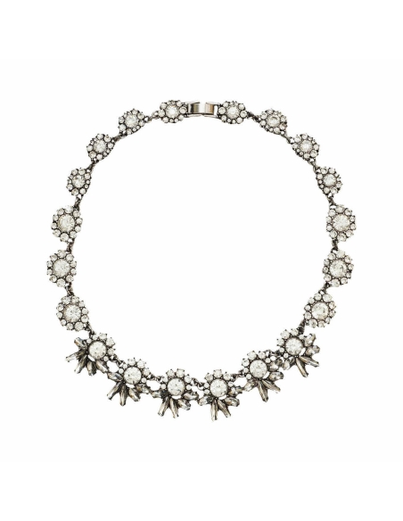 Sparkly Crystal Flower Necklace