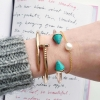 Turquoise Spike Cuff