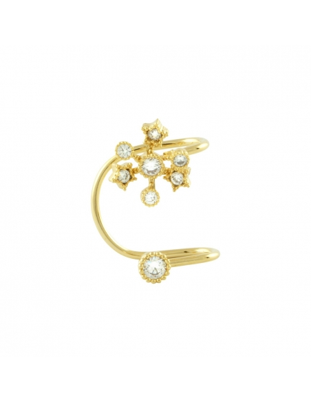 Gold Snowflake Ear Cuff