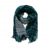 Green Double Sided Green Plaid Scarf