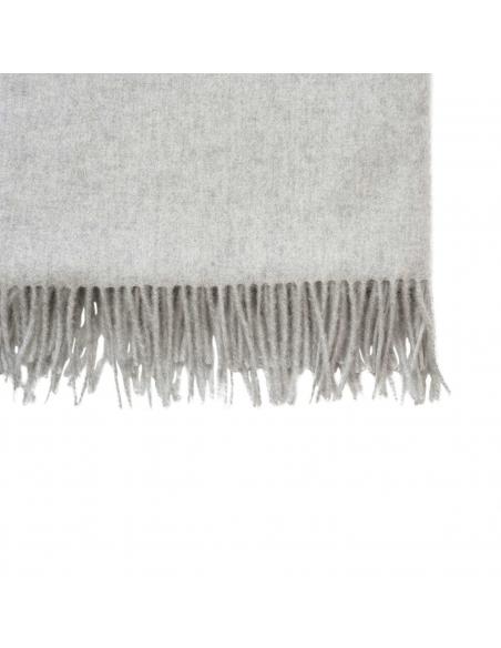 Lichtgrijse Wollen Sjaal