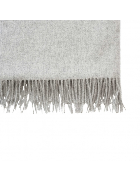 Light Grey Wool Scarf