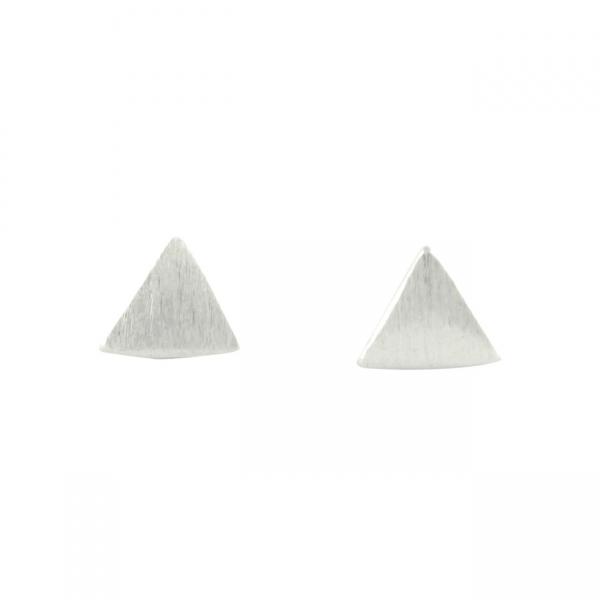 Zilveren Driehoeke Oorbellen