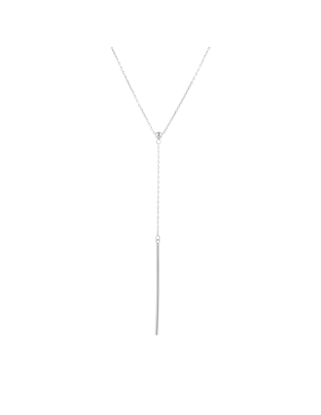 925 Sterling Silver Long Y Tube Necklace