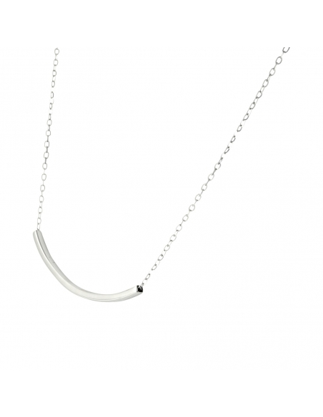 Arc-shaped Tube Necklace