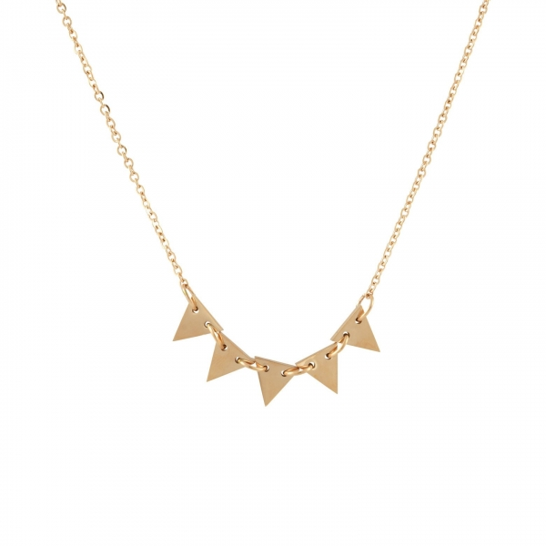 Linked Triangles Necklace
