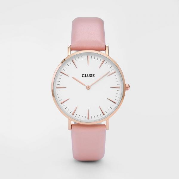 CLUSE Horloges La Bohème Roze Goud Wit Roze