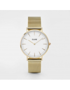 CLUSE Watch La Bohème Mesh Gold White