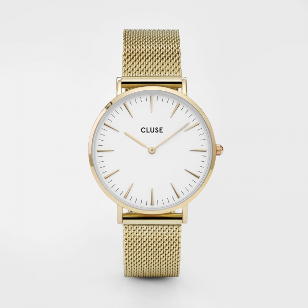 CLUSE Watch La Bohème Mesh Gold White