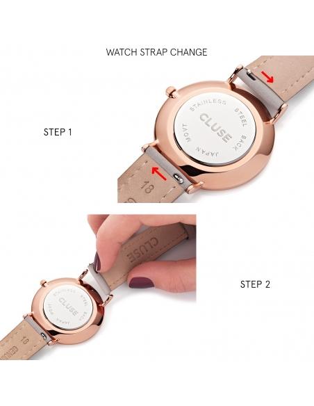 CLUSE Horloge La Bohème Mesh Goud Wit