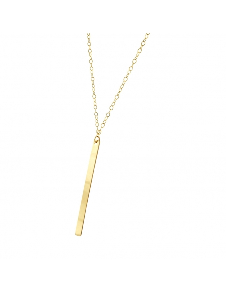 14K Gold Filled Vertical Bar Necklace