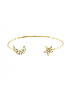 Moon and Star Cuff Bracelet