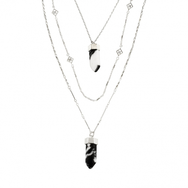 Quartz Stone Layered Necklace