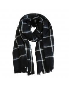 Zwart Witte Geruite Sjaal