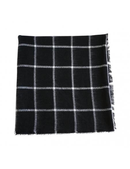 Black White Grid Scarf
