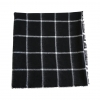 Black White Grid Scarf