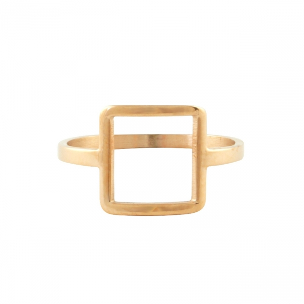 Frame Square Ring - Rose Gold