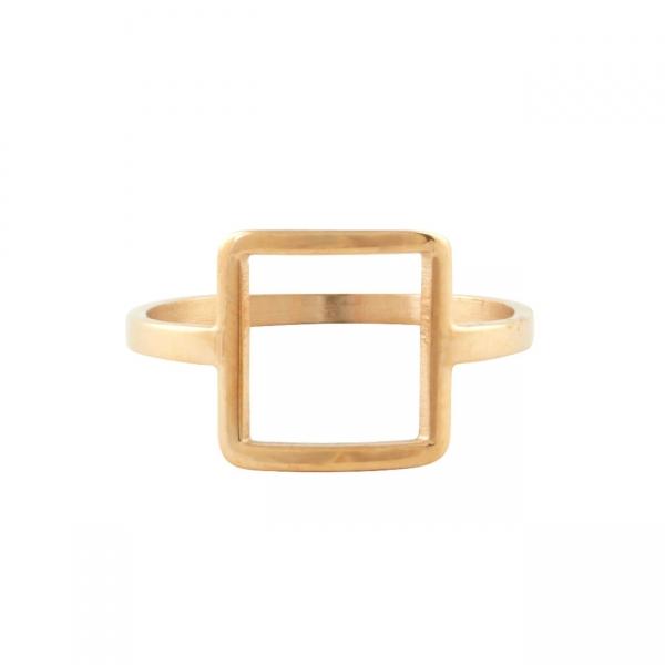 Frame Square Ring - Rose Gold
