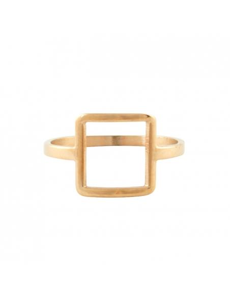 Vierkantsvorm Ring - Roze Goud