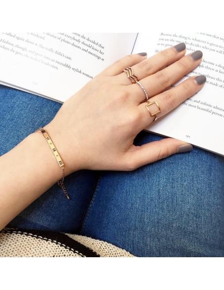 Frame Square Ring- Rose Gold