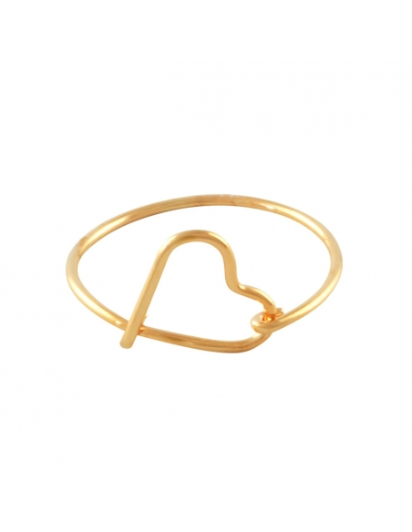 Wire Heart Ring - Rose Gold