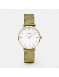 CLUSE Horloge Minuit Mesh Goud Wit