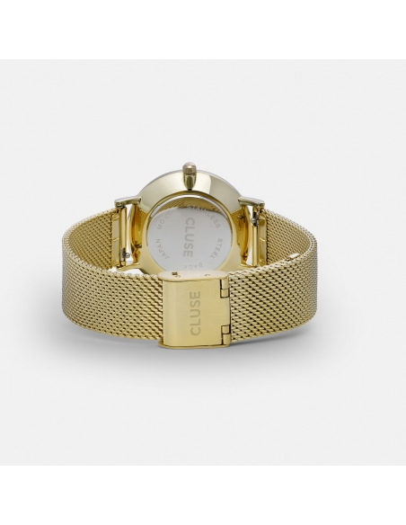 CLUSE Watch Minuit Mesh Gold White