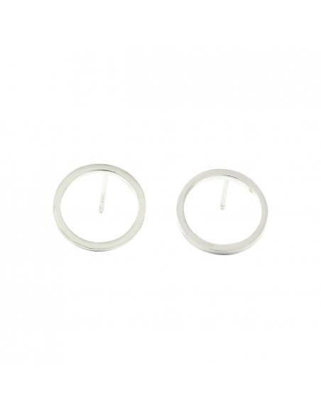 Cirkel Vorm Oorbellen - Zilver