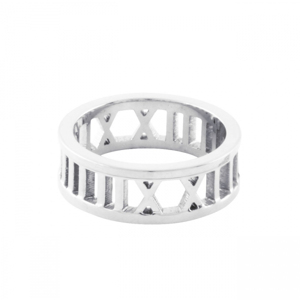 Roman Numeral Ring - Silver