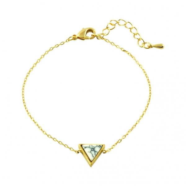 Driehoeks Marmer Armband